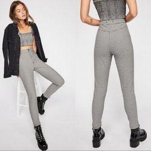 We The Free black white houndstooth skinny pants